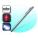 Красная лазерная указка + Белый свет + магнит + ручка + телескопическая указка TD-RP-18